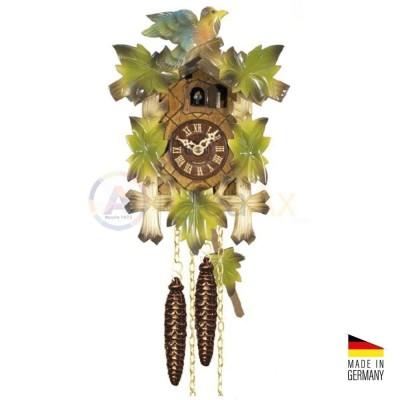 Orologio Cucù tradizionale in legno colorato 'verde' 30 cm - Made in Germany