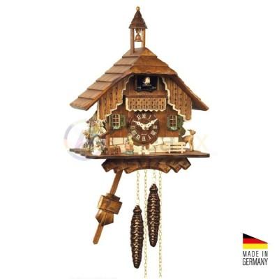Orologio Cucù 'Chiesa' in legno marrone scuro 'noce' 29 cm - Made in Germany