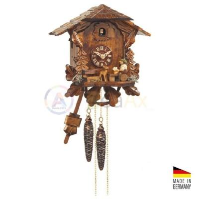 Orologio Cucù automa Bevitore in legno marrone scuro 25 cm - Made in Germany